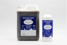 Savon liquide noir à l'huile d'olive MARIUS FABRE 1L et 5L