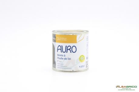 Vernis à l'huile de lin transparent n°143 AURO - Pot de 0.375L face