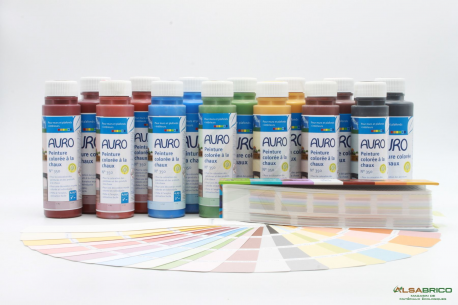 Colorant pour peinture à la chaux AURO n°350 - Groupe avec nuancier