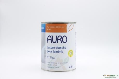 Lasure blanche pour lambris n°814 AURO - Pot de 2.5L avant