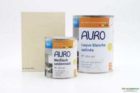 Laque couvrante satinée Aqua n°260 AURO - Teinte Blanche - 2 conditionnements