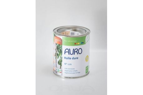 Huile dure pour sols n°126 AURO - Pot de 0.75L