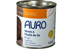 Vernis à l'huile de lin transparent n°143 AURO